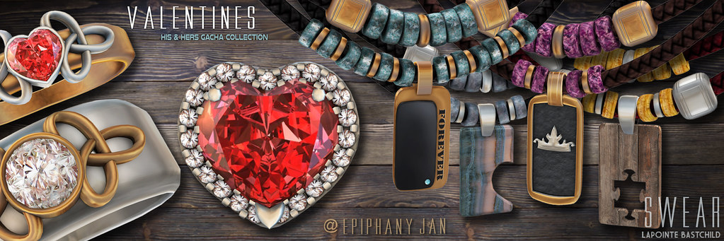 L&B@The Epiphany - Jan : Swear Valentine His & Hers Jewelry Collection - TeleportHub.com Live!