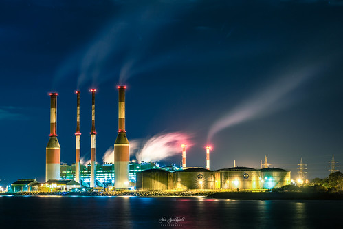 lights longexposure nightphotography nightscape powerstation smoke