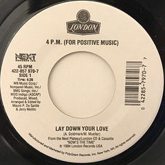 4 P.M.:LET DOWN YOUR LOVE(LABEL SIDE-A)