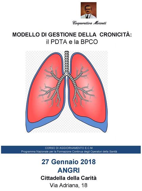 MODELLO DI GESTIONE DELLA CRONICITA': il PDTA e la BPCO - Angri (SA) - 27 Gennaio 2018
