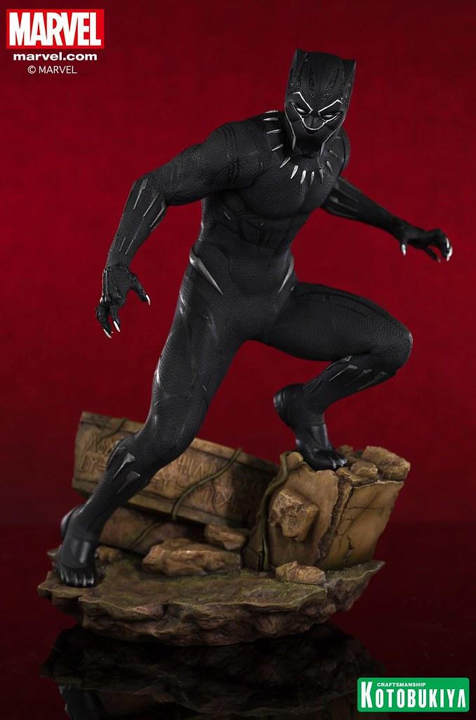 立於瓦干達廢墟遺跡之上的帝王! 壽屋 ARTFX 系列 Marvel Universe《黑豹》黑豹 Marvel Black Panther Black Panther 1/6 比例全身雕像作品