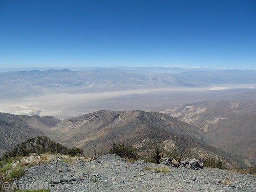 Views to the west from Telescope Peak over China Lake and the Sierras, Death Valley National Park, California