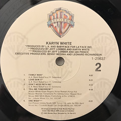 KARYN WHITE:KARYN WHITE(LABEL SIDE-B)