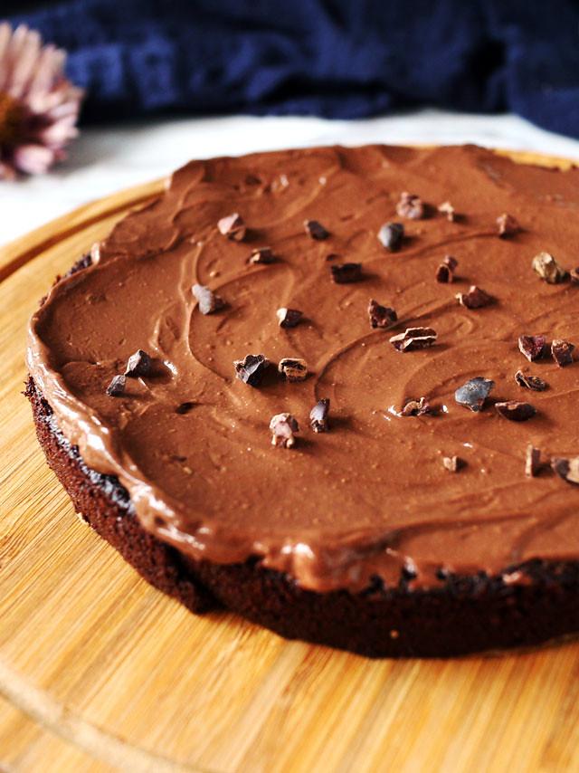 全素無粉藜麥巧克力蛋糕 Vegan Flourless Quinoa Chocolate Cake (3)