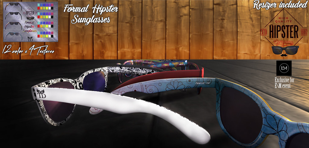 ^TD^Formal Hipster Sunglasses