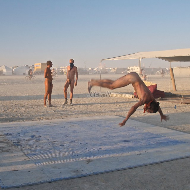 naturist camp Gymnasium 0036 Burning Man, Black Rock City, NV, USA