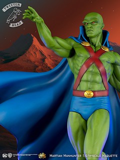 囧叔4ni~?! Tweeterhead Super Powers 系列【火星獵人】Martian Manhunter 1/6 比例全身雕像作品
