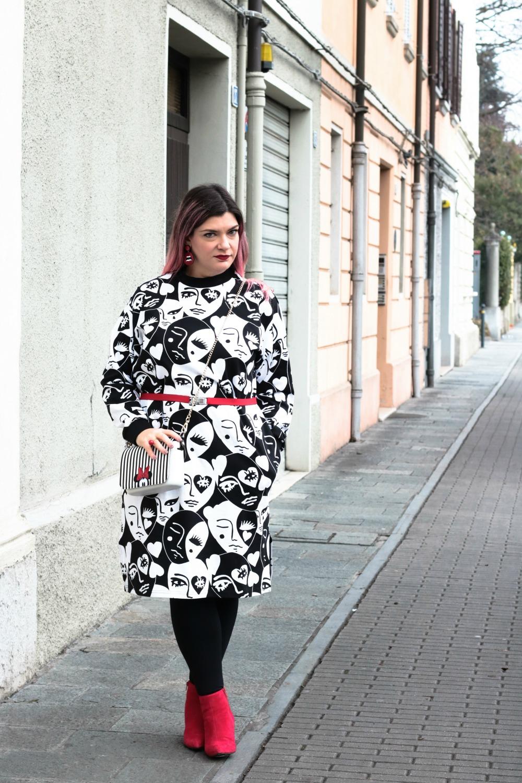 Outfit plus size monki, bianco rosso e nero (9)
