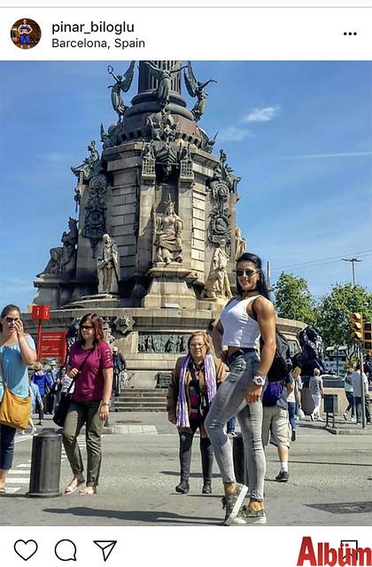Alanya'da yaşayan Milli Sporcu ve Fitness Antrenörü Pınar Biloğlu, Barcelona'daydı.