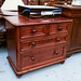 Solid dark pine stained 2+2 chest of drawers E125