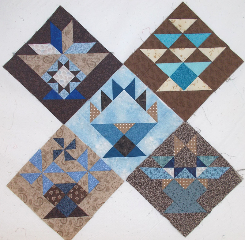 Basket BOM blocks by Sandi Walton at Piecemeal Quilts