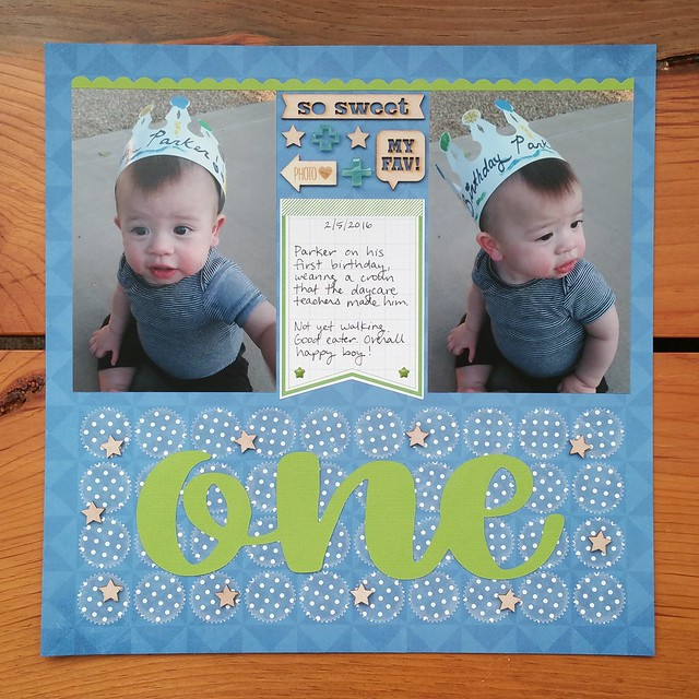 Parker's One Year Old Layout | shirley shirley bo birley Blog