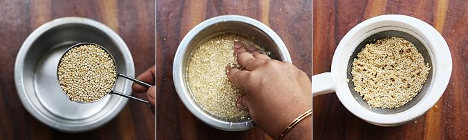 How to make quinoa porridge recipe - Step1