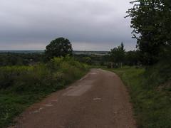20070903 13218 0710 Jakobus Weg Feld Wald Hügel Weite