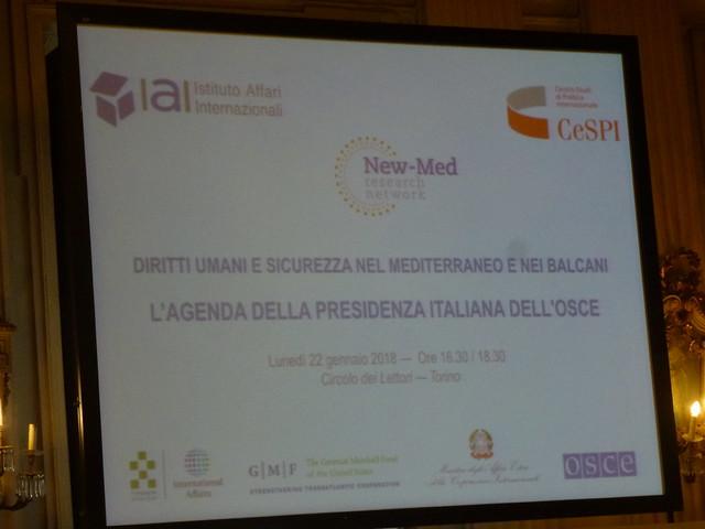L'agenda della presidenza italiana dell'Osce