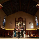 Tue, 20/02/2018 - 1:14pm - The trio of Sara Watkins, Sarah Jarosz and Aoife O'Donovan play for WFUV listeners at the Fordham University Church in NYC, 2/20/18. Hosted by John Platt. Photo by Gus Philippas/WFUV