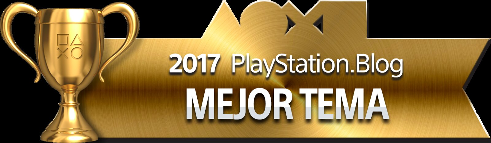 PlayStation Blog Game of the Year 2017 - Best PS4 Theme (Gold)