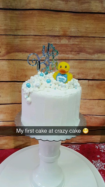 Sammys first cake at crazy cake cafe