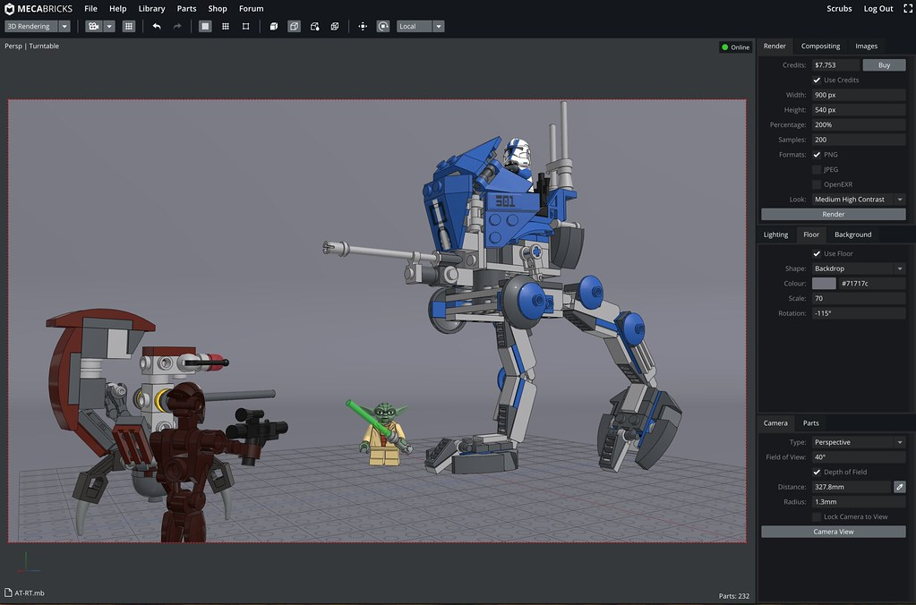 Online lego rendering with mecabricks and blender for Online rendering tool