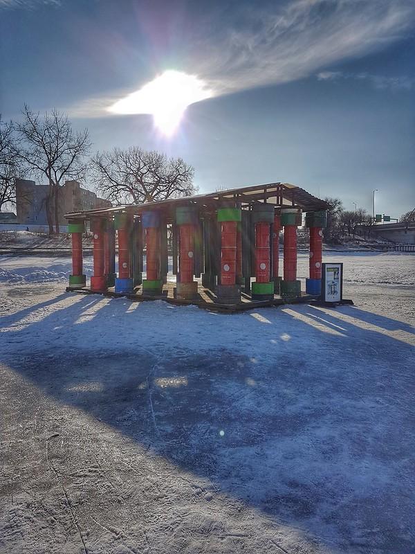 The Forks Winter Parthenon Warming Hut