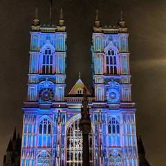 Technicolour Abbey. #Lumiere2018 #london