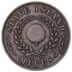 Ceylon Slave Island Mills Token reverse
