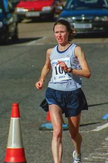 Läuferin vor dem Ziel