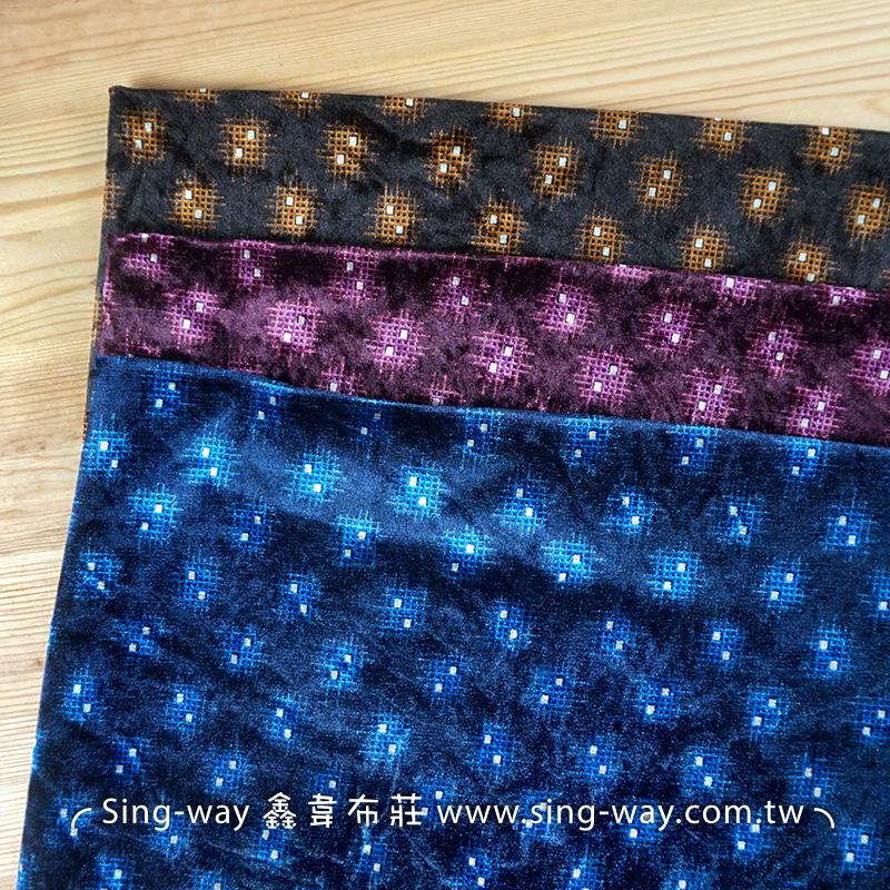 小細網 毛絨面 冬季針織彈性布料 LB590229