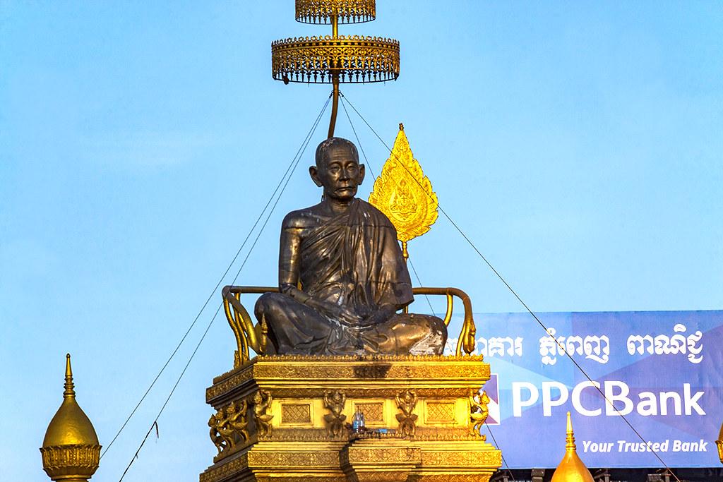 Chuon Nath statue--Phnom Penh
