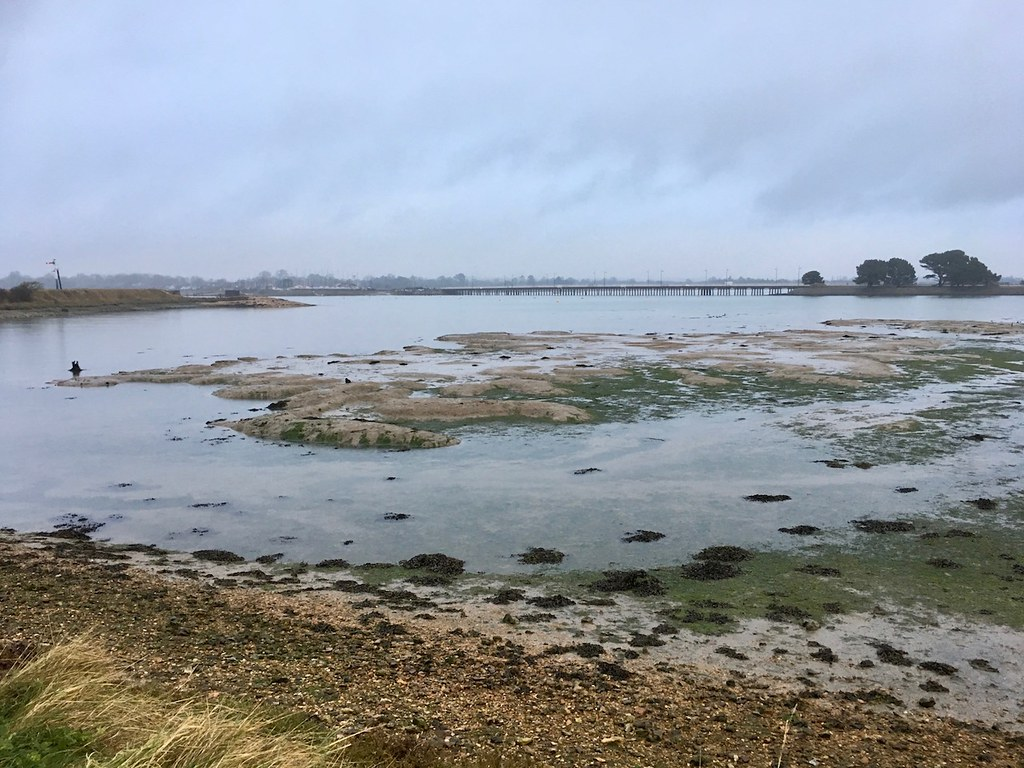 Mudflats, top of Hayling Island Portsmouth to Hayling Island walk