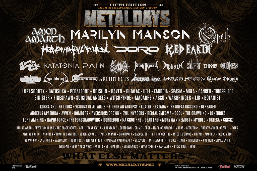 MetalDays Open Air 2017 | 23-29.07.17 | Tolmin, Slovenia