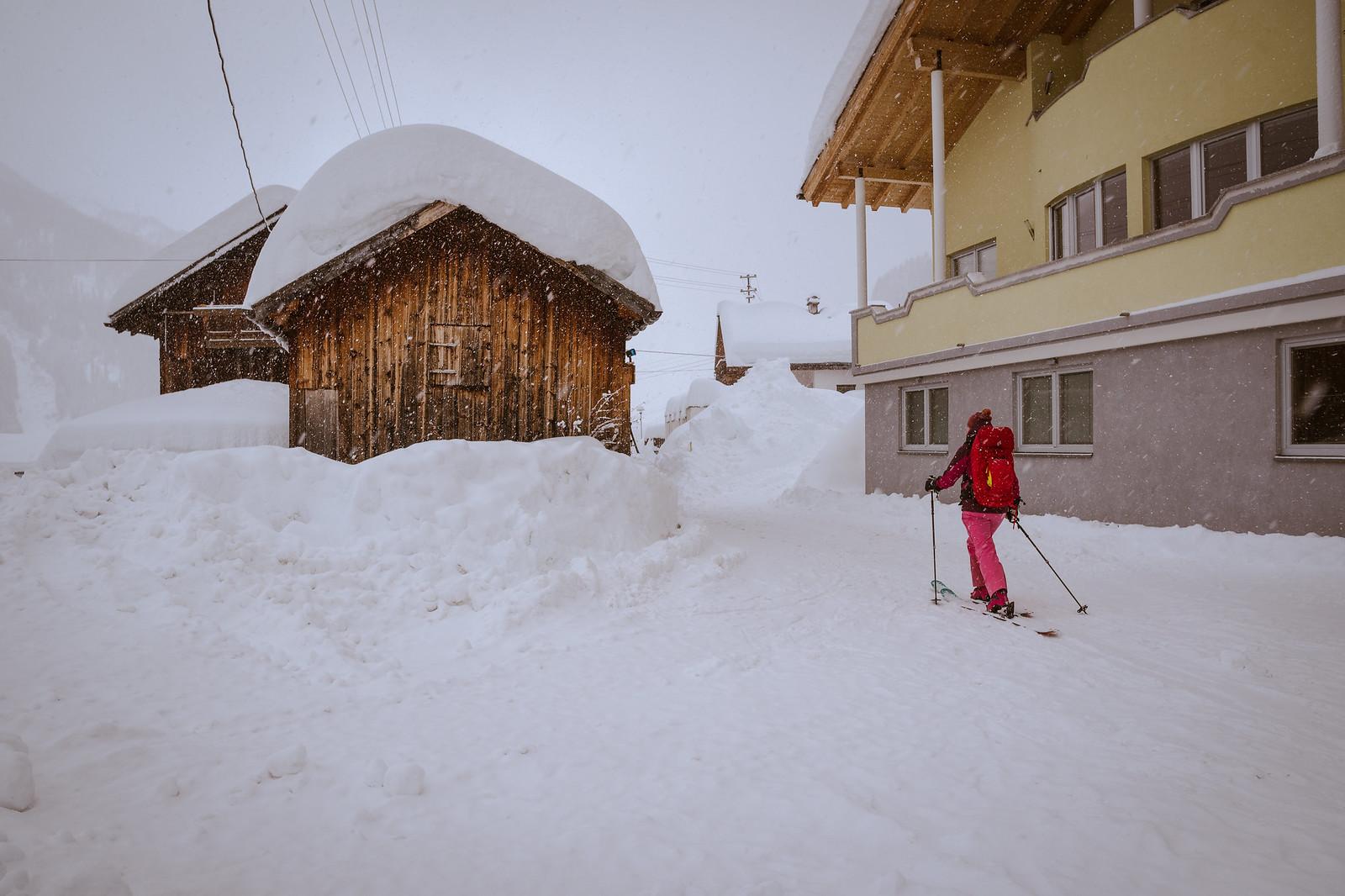 Kaduilla riitti ainakin lunta skinnattavaksi