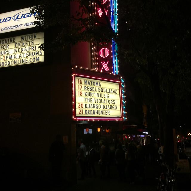Heron Oblivion & Cass McCombs & Kurt Vile @ The Showbox, Seattle, WA, 18 October 2015