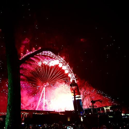 Londra: fuochi di capodanno