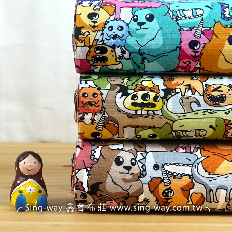 熊怪物世界 魔獸異想世界 Monster 怪獸 手工藝DIy拼布布料 CA450722