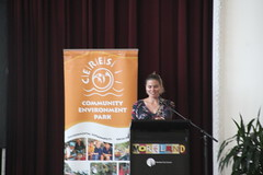 Cr Jess Dorney on Moreland's climate leadership, introducing Paul Hawken - IMG_3026