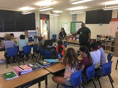 Hawaii Electric Light Hookena School Visit - January 10, 2018: Classroom photo with Darren E.