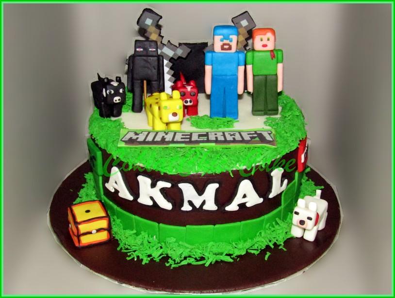 Cake minecraft AKMAL 18 cm