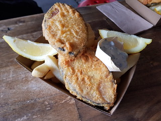 Fish and Chips from Happy Fish at Brisbane Vegan Markets