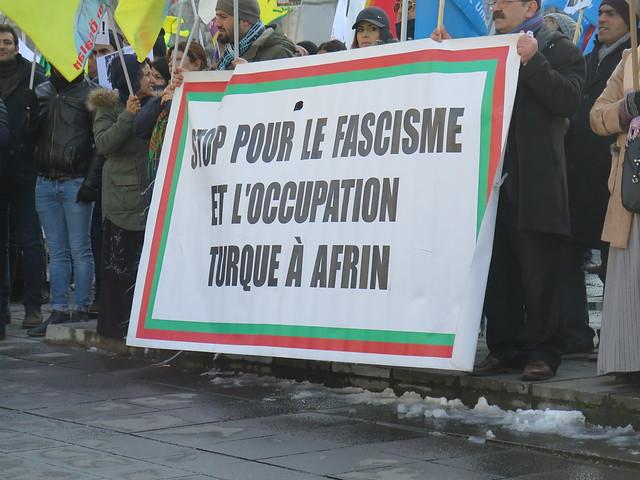 Protest tegen Turkse inval in Afrin // Foto's door Mario