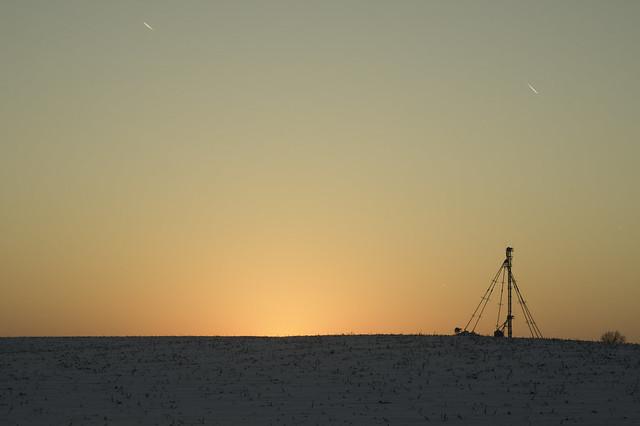 Grain elevator sunset, RICOH PENTAX K-3, smc PENTAX-F 35-70mm F3.5-4.5