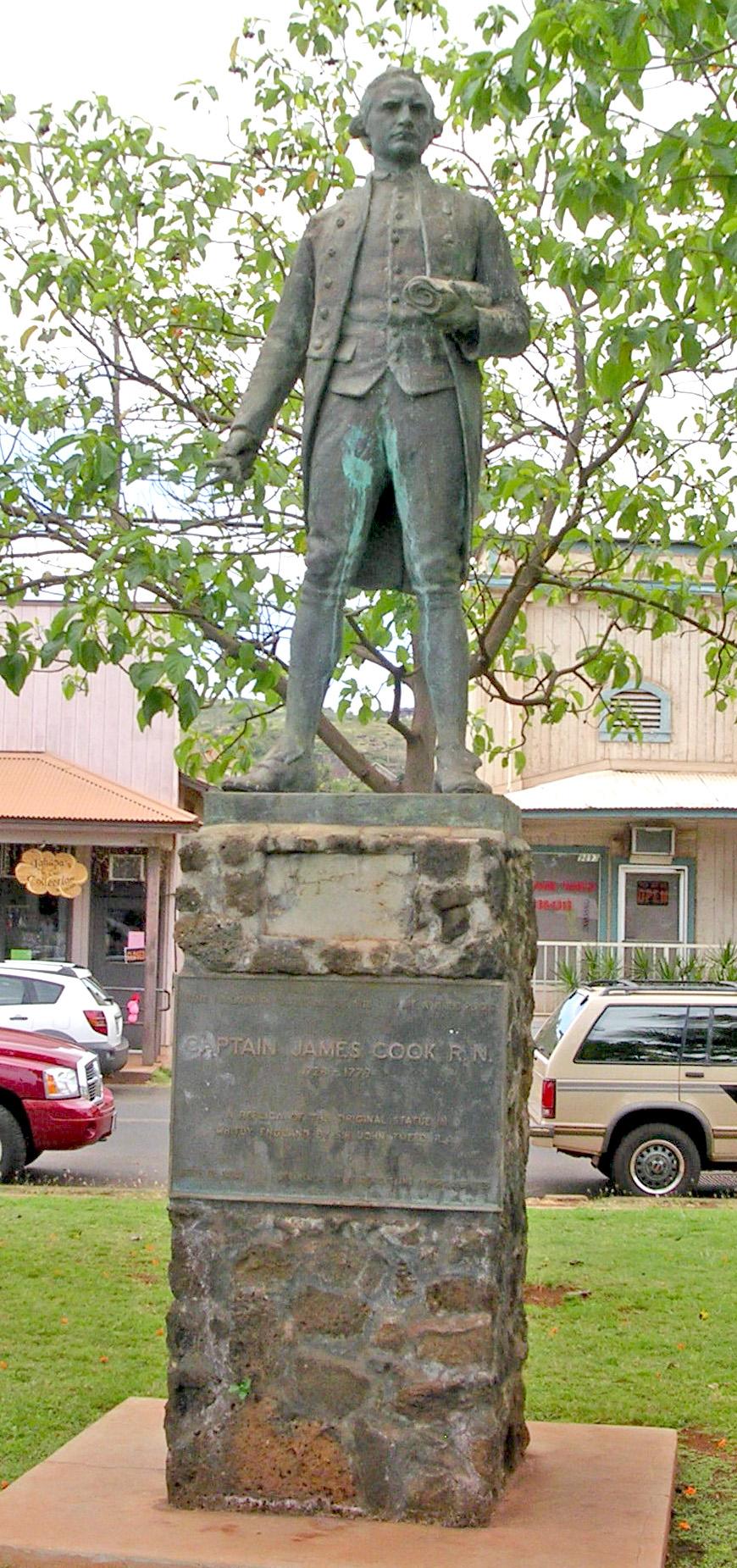 James Cook Monument at Waimea, Kauai. Photo taken on May 15, 2005.