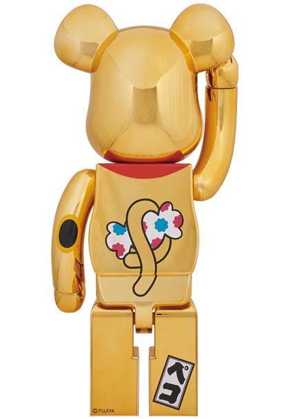 新的一年就讓閃亮亮的牛奶妹幫你招財進寶!!BE@RBRICK 不二家【鍍金招財貓Peko醬】招き猫 ペコちゃん 金メッキ 1000% 巨大登場!!
