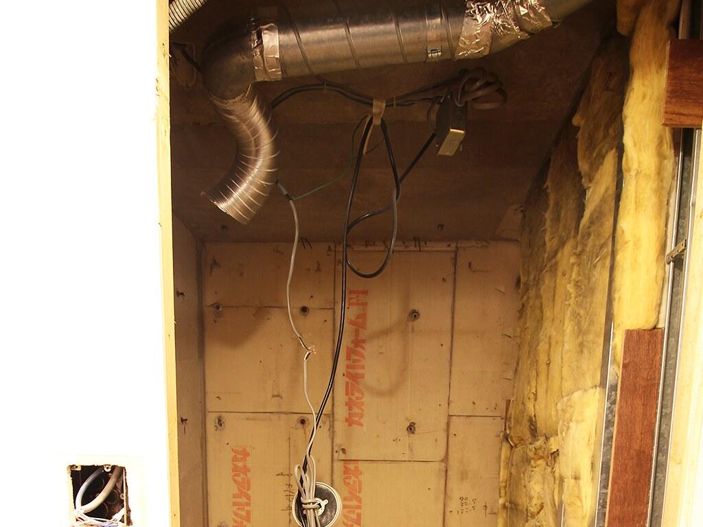 リノベーション中のトイレの天井部分