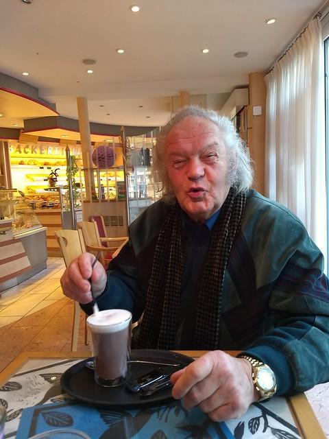 Horst Lapp im Café Waidele in Wolfach