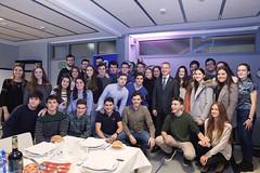 21/02/2018 - El Lehendakari Iñigo Urkullu con estudiantes del Colegio Mayor Deusto