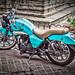 Turquoise Motorcycle por Michael Guttman