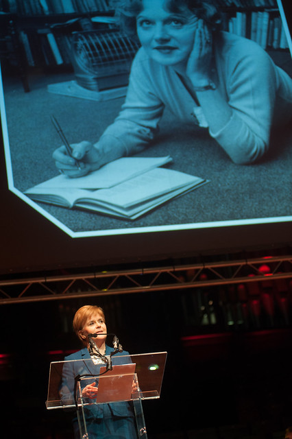 First Minister Nicola Sturgeon reads from 'The Prime of Miss Jean Brodie'
