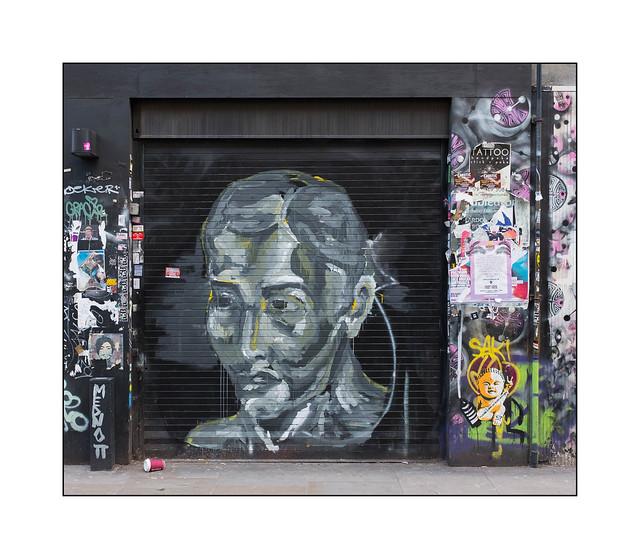 Street Art (Mednott), East London, England.