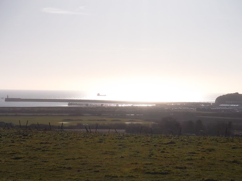 Newhaven Harbour from near Bishopstone Station